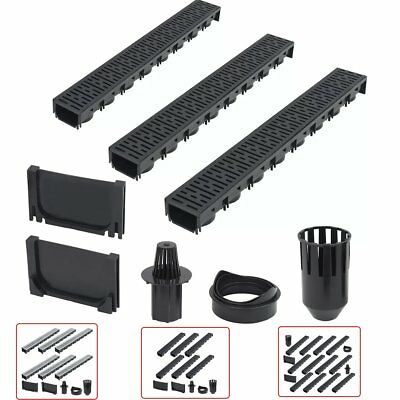 Drainage Channels 3/6/12 pcs Plastic/Galvanised Steel Rain Water Drainage Tool