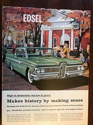 V 1959 Edsel Original Car Ad