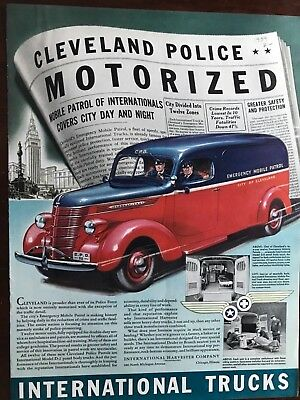 E International Truck Cleveland City Ad 14 x 10 1/2