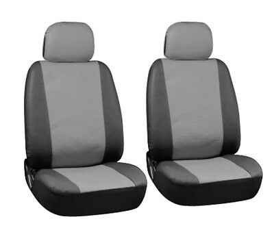 CITROEN GRAND C4 PICASSO - Leather Look CAMBRIDGE Grey/Blk FRONT Car Seat Covers