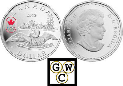 2012 Olympic Lucky Loonie Proof $1 Silver Coin .9999 Fine (13014)
