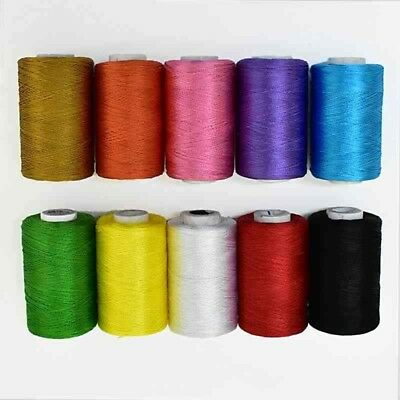 8 ply Red Gold Viscose Rayon Cord Thread Yarn Embroidery Crochet Lace Jewelry
