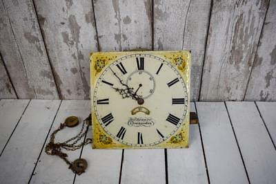 Antique Georgian 30 Hour LongCase Grand Father Clock Dial And Movement