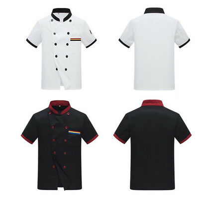 Chefs Jacket Chef White And Black With Piping Coat Chefwear Unisex Chef Pretty