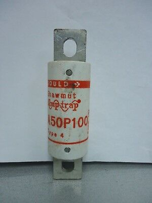 New Gould Shawmut A50P100 Semiconductor 100 Amp Fuses Type 4 500 VAC