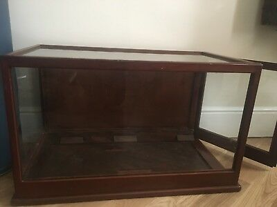Original English Mahogany Museum Glass Display Case