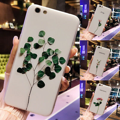 For Apple Iphone X/7 Plus/8/6 Mobile Phone Shell Case Silica Gel Soft Cover Leaf