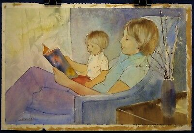 Story Time (William Benecke watercolor)
