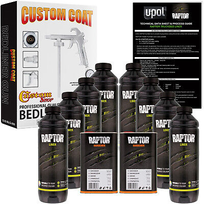 Raptor Tintable Urethane Spray-On Truck Bed Liner Spray Gun, 8 Liters
