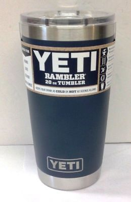 Yeti 20 oz Rambler Tumber with Magslider Lid in Navy Blue-NEW