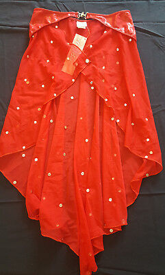 Hey Baby of California Skirt - Red - Clear Dot - Small - Over 75% Off!!