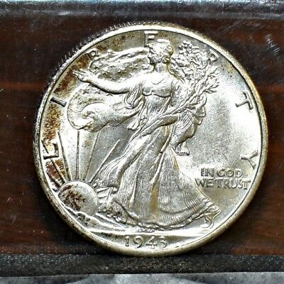 1943-D Liberty Walking Half Dollar - Unc Details (#16637)