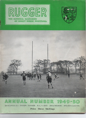 RUGBY UNION - Rugger magazine Annual 1949/50