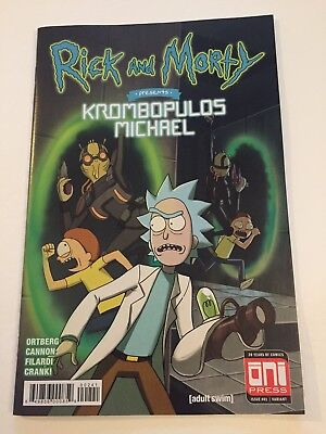 Rick & Morty Krombopulos Michael 1 GenCon Variant Gaming Convention Oni Press