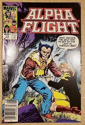 Alpha Flight #13 August 1984 Marvel Comics Wolverine VF Bag and Board