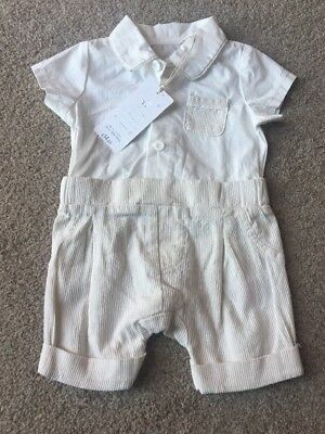 Mothercare Baby Boys Smart Formal Outfit All In One Wedding Christening 0-1 M NB