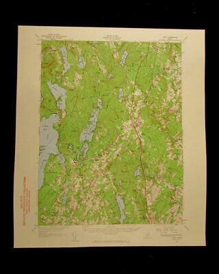Gray Maine 1960 vintage USGS Topographical chart map