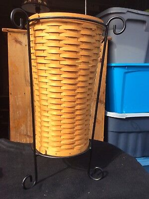 Longaberger 2000 Full Size Umbrella Basket With Stand.
