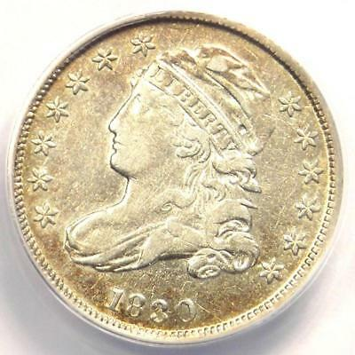 1830 Capped Bust Dime 10C - ANACS XF40 Detail (EF) - Rare Early Certified Coin!