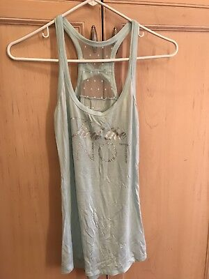 """VICTORIAS SECRET """"TIED THE KNOT"""" BABY BLUE TANK TOP SIZE Small"""