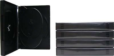 (5) DV6R27BK 6-Capacity Replacement DVD Boxes Multi Set Thick Chubby Disc 27mm