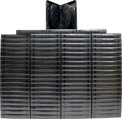 (80) DV6R27BK 6-Capacity Replacement DVD Boxes Multi Set Thick Chubby Disc 27mm