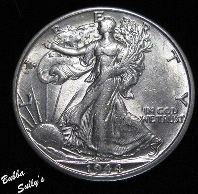 1944 S Walking Liberty Half Dollar <> ABOUT UNCIRCULATED ++