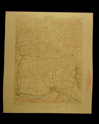Little Falls New York 1949 vintage USGS Topographical chart map