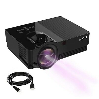 Mini Projector - LED Portable Video Projector with 170'' Display and 1080P Su...