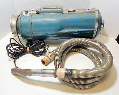 Vintage tested ELECTROLUX blue model E canister vacuum cleaner PARTS OR REPAIR