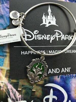 Disney Alex And Ani Villains Maleficent Silver Bracelet Mistress Of All Evil NEW