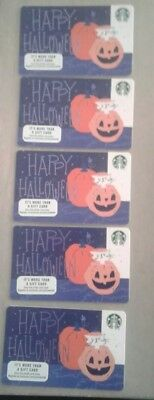 10 Starbucks Halloween Gift Cards 2018, #6156, Collectible, Mint