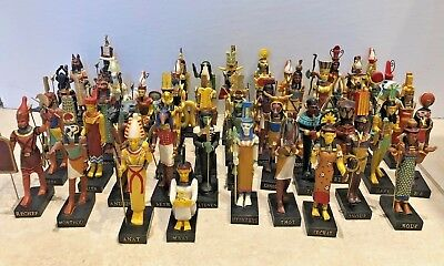 Lot of 55 Ancient Egyptian God Figurines 4''