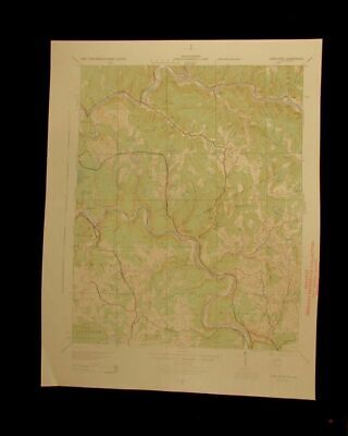 Long Eddy New York 1944 vintage USGS Topographical chart map