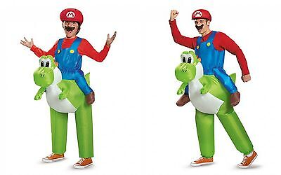 Disguise Super Mario Riding Yoshi Adult Child One Size Halloween Costume 85150