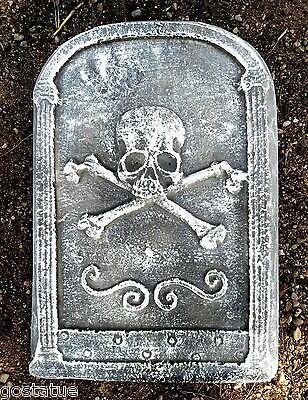 Happy Halloween Tombstone Mold plaster concrete holiday casting