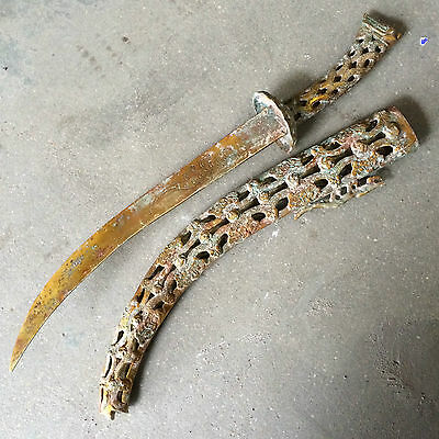 antique collectible Chinese Kungfu ancient weapon Delicate machetes