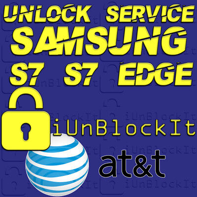 Galaxy S7 S7 Edge Network Unlock Service Software AT&T cricKet * Do It Yourself*