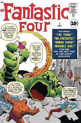 Fantastic Four #1 Facsimile Edition Marvel Comics Near Mint 8/29/18