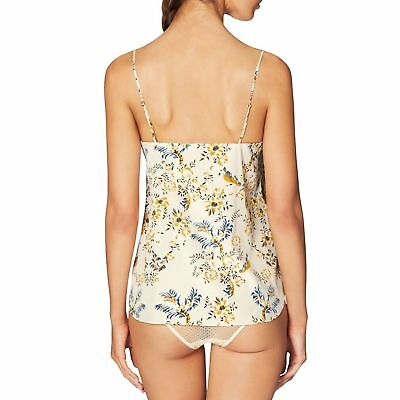 STELLA McCARTNEY Ellie Leaping Floral Print SMALL Stretch Silk CAMISOLE  RRp$165