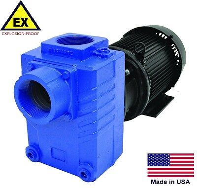 "CENTRIFUGAL PUMP Explosion Proof - Self Priming - 3"" Ports - 7.5 Hp  230/460V 3P"