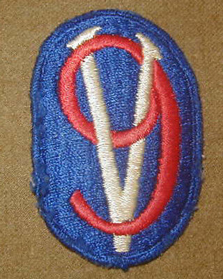 Original WWII 95th Division patch Used - Blue Border Variation
