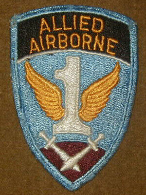 Original WWII 1st Allied Airborne Army patch Paratrooper - Used condition