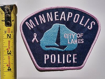 Minneapolis Police Patch Pink Breast Cancer Awareness Month! - New