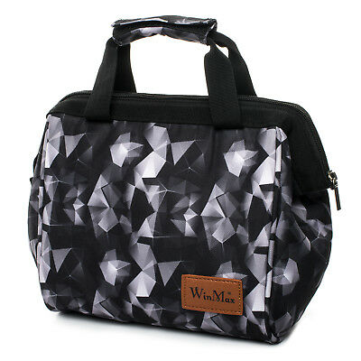 Women Men Cooler Thermal Insulated Lunch Bag Box Picnic Food Work Tote Portable
