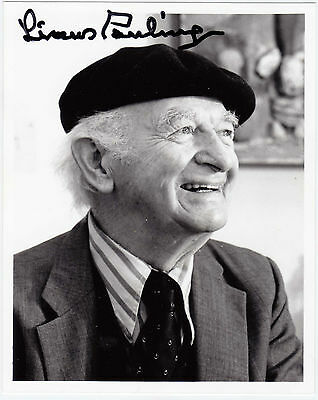 Linus Pauling Autograph Photo from Linus Pauling Institute of Science & Medicine