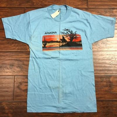 Vintage 80S Nos Arizona Tourist T Shirt Size S/m Usa Nature Vacation Outdoors