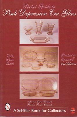 """""""Pocket Guide to Pink Depression Era Glass"""" Monica & Patricia Clements 2001 New"""