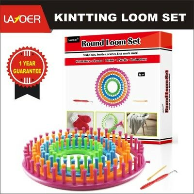 Round Loom Set Plastic Knitting Looms with Weaving Circle Hook Needle