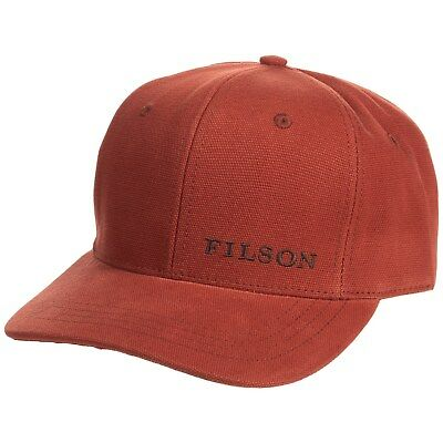 a637476d4 FILSON LOGO CANVAS Logger Hunting or Fishing Hat / Cap - Rusted Red ...